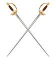 crossed infantry swords vector image