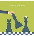 ector Flat header Chess Management vector image