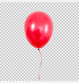 red helium balloon isolated on transparent vector image