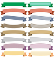 Ribbons and banners on white background vector image