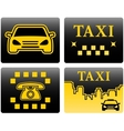 set icons for taxi vector image