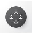 teamwork and meeting icon symbol premium quality vector image