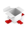 White cardboard box vector image