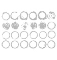 Set of Vintage Abstract Halftone Round Elements vector image vector image