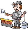 Happy Bricklayer Handyman vector image vector image