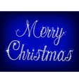Merry Christmas text with diamond vector image vector image