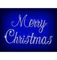 Merry Christmas text with diamond vector image