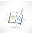 Sketch book grunge icon vector image vector image