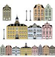 historic houses vector image vector image