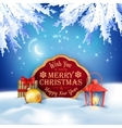 Christmas Winter Night Background vector image vector image