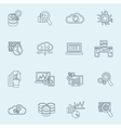 Database analytics icons outline vector image vector image