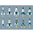 Set of Various Rocket Spaceship vector image