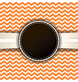 Orange Chevron Badge and Pattern vector image vector image