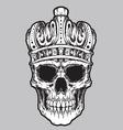 skull king vector vector image