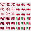 French Polynesia Poland Trinidad and Tobago Italy vector image