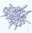 bouquet of doodle vector image