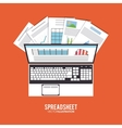 Spreadsheet design business and infographic vector image