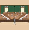 businessman conference or presentation at vector image
