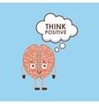 cartoon brain icon vector image