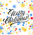 Christmas card with confetti and ribbons for vector image