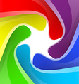 Colorful rainbow camera shutter background vector image