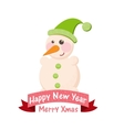 Greeting card with a snowman vector image