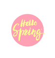 Hello Spring brush lettering handdrawn vector image