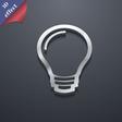 Light bulb icon symbol 3D style Trendy modern vector image