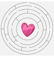 Love heart maze or labyrinth valentines day vector image