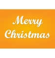 Merry Christmas with shadow vector image