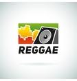 Reggae music equalizer sound logo emblem vector image