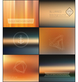 Set of geometric hipster shapes and blur gold vector image