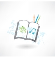 Sketch book grunge icon vector image