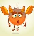 Cute cartoon flying monster surprised vector image