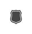 Shield Icon in trendy flat style isolated on grey vector image vector image