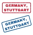 Germany Stuttgart Rubber Stamps vector image