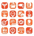 color food icon set vector image vector image