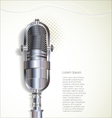 Old retro microphone background vector image vector image