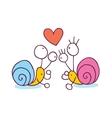 Snails In Love cartoon vector image