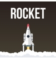 Rocket that fly in universe vector image vector image
