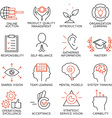 Set of icons related to business management - 6 vector image vector image