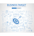 Business Target Concept with Doodle design style vector image vector image