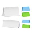 blank desktop calendars vector image