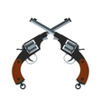 Crossed revolvers icon vector image