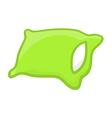 green pillow vector image