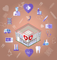 Healthcare Infographics Icons Set vector image
