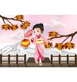 Cartoon Japanese Girl vector image