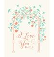 Wedding rose arch vector image vector image
