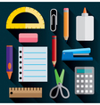 School and Office Supplies-Flat Design vector image