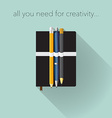 Creativity tools vector image